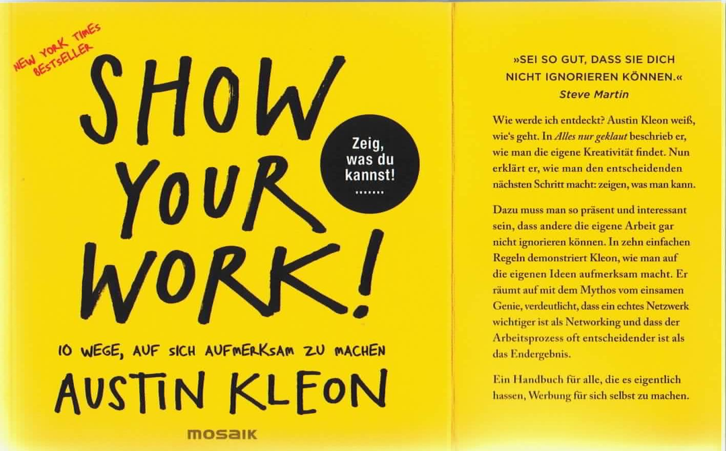 Bild Cover Buch Show Your Work A-Seite